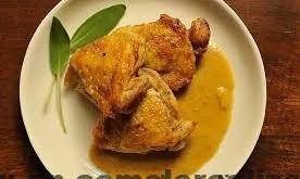 Muslos de pollo a la mostaza